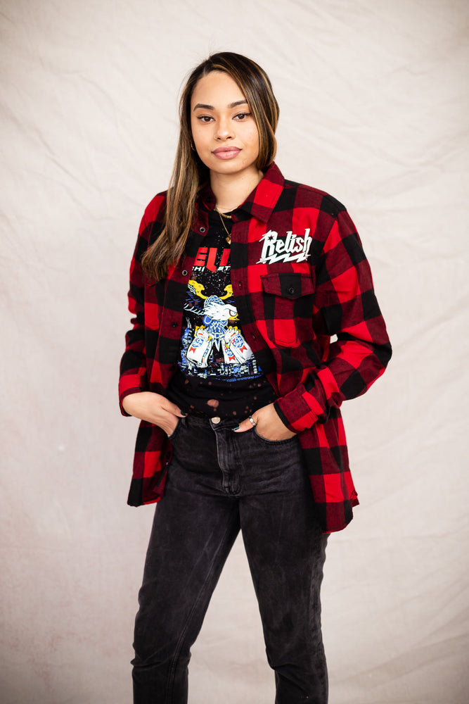 Load image into Gallery viewer, American Eagle Don't be Plain flannel - Buffalo