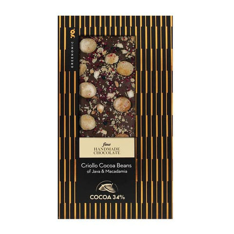 Fine Chocolate | Criollo Cocoa Beans of Java & Macadamia