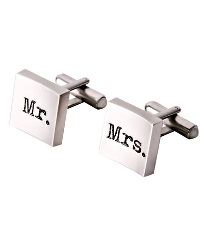 "Manschettenknopf ""Mr. & Mrs."""