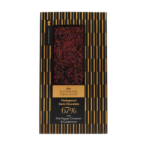 Fine Chocolate | Madagascar Pink Pepper, Cinnamon & Cardammon