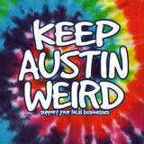 Original Keep Austin Weird - Tie-Dye Rainbow Youth Shirt