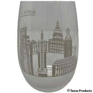 Austin Skyline Wine Glass