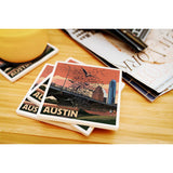 Austin - Texas Bats and Congress Avenue Bridge Coasters