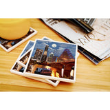 Austin Texas - Retro Skyline Ceramic Coasters