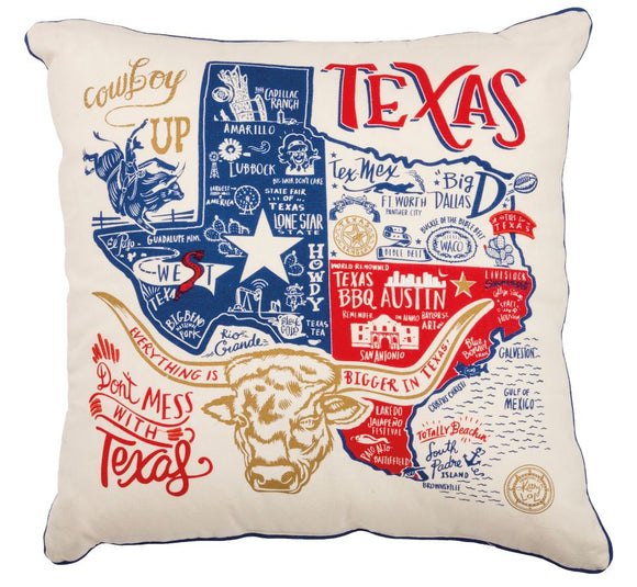 Texas Icons Pillow