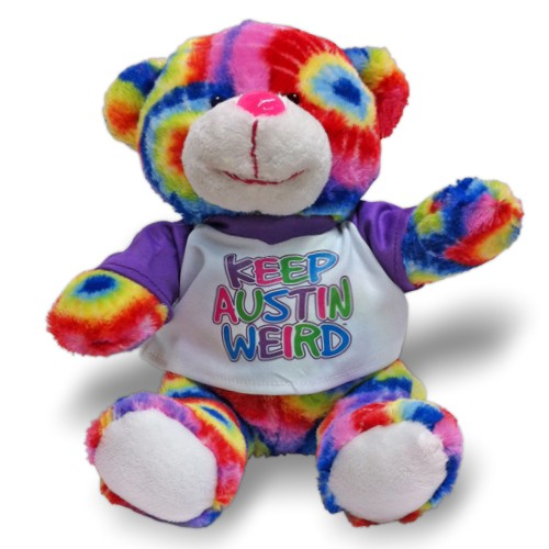 Keep Austin Weird Tie-Dye Bear