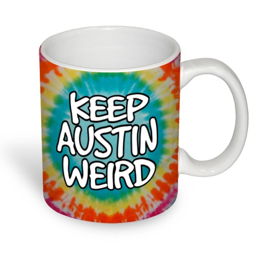 Keep Austin Weird Tie-Dye Mug
