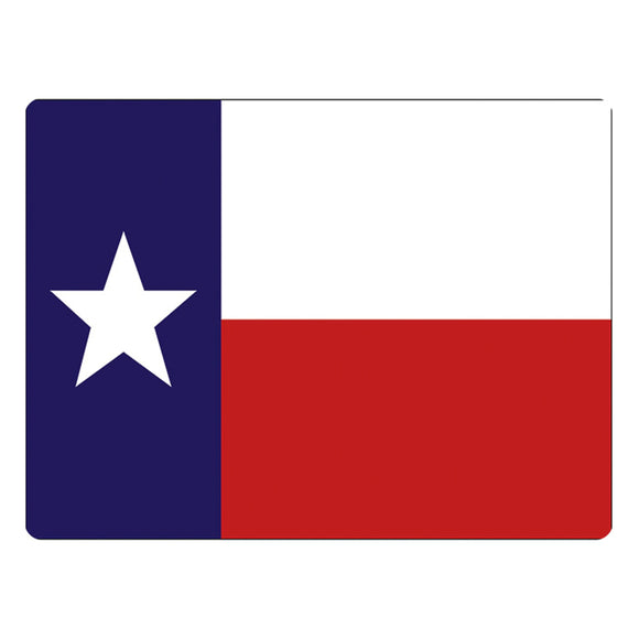 Glass Texas Flag Cutting Board