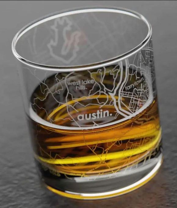 Austin Texas Whiskey Glass