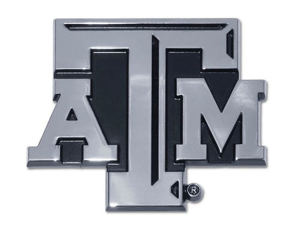 Texas A&M Matte Chrome Emblem