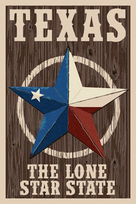 Texas Barn Star Letterpress - Ceramic Coasters