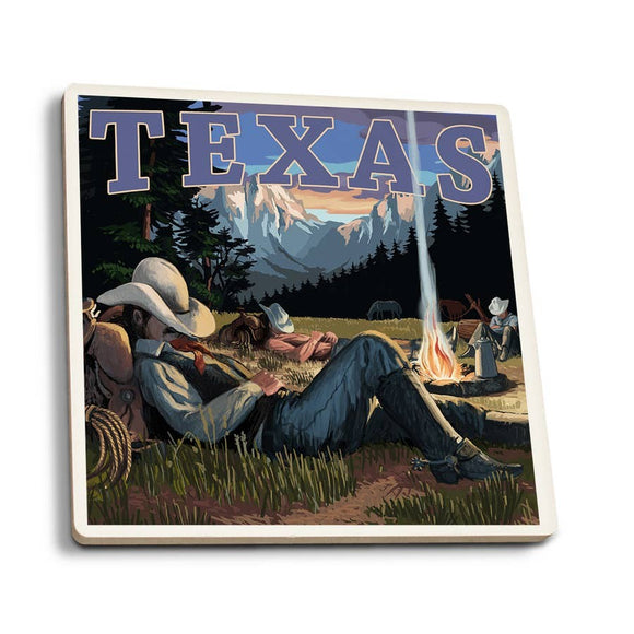 Texas - Cowboy Ceramic Coaster