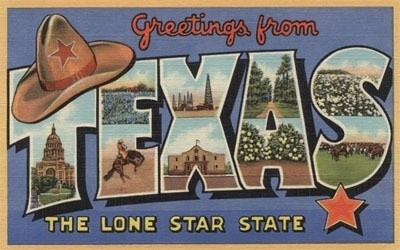 Texas Greetings From The Lone Star State Ceramic Coasters