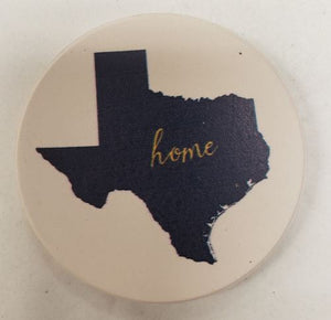 Texas Home Car Coaster