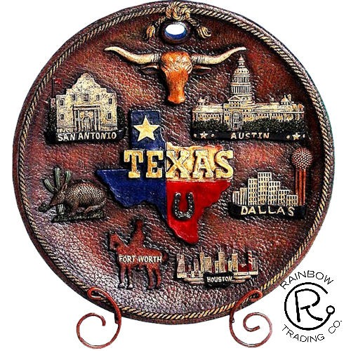 Texas Plates with City Images