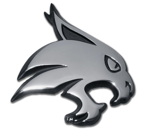 Texas State University Bobcat Chrome Emblem