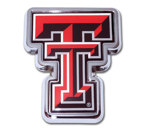 Texas Tech Red Chrome Emblem