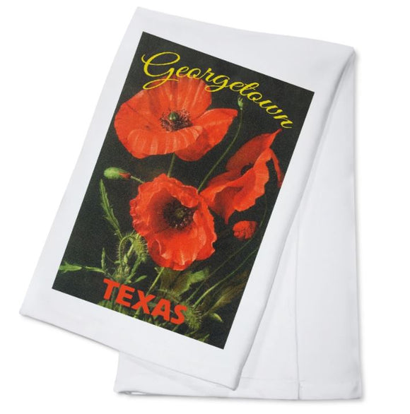 Georgetown Red Poppy Towel