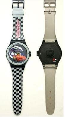 Disney Cars Lightning McQueen Wall Clock wist watch shape Black - Miracle Mile Gifts