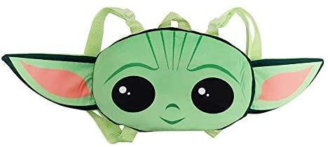 Star Wars Baby Yoda Grogu Face Plush Backpack - Miracle Mile Gifts