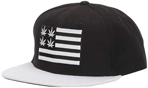 Nothing Nowhere Weed 2 Flat Bill Snapback, Black/White - Miracle Mile Gifts
