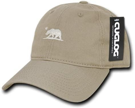 California Bear Cotton Cap, Khaki - Miracle Mile Gifts