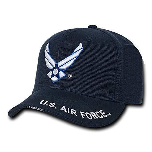 United States Air Force Wing Embroidered Cap by Rapid Dominance, Navy blue, Adjustable - Miracle Mile Gifts