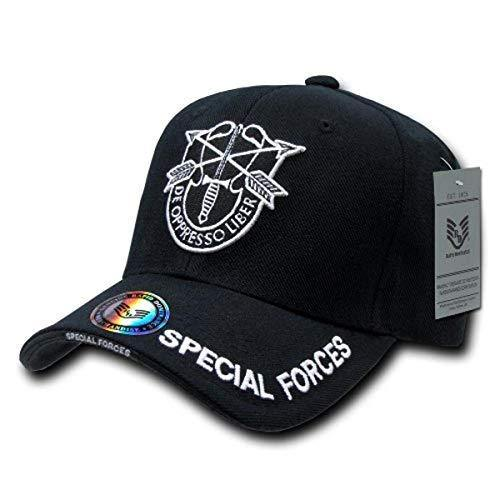 Rapid Dominance Special Forces Deluxe Military Cap, Black - Miracle Mile Gifts
