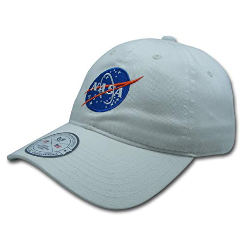 NASA Relaxed Cap/ Hat White - One Size Fits Most
