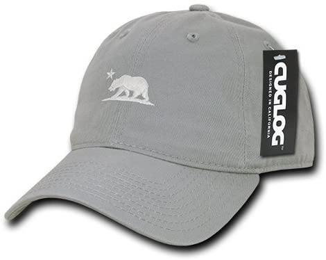 Cuglog California Bear Cotton Cap Hat Grey - Miracle Mile Gifts