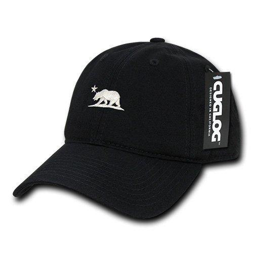 California Bear Plain Black Cotton Cap - Miracle Mile Gifts