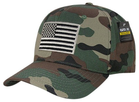 Rapid Dominance T76-USA-WDL Embroidered Operator Cap, USA, WDL, Woodland