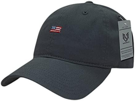 Rapid Dominance Small USA Flag Relaxed Graphic Cap, Dark Grey - Miracle Mile Gifts