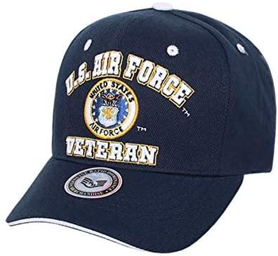 US Air Force Veteran Embroidered Baseball Cap Hat (Navy Blue) - Miracle Mile Gifts