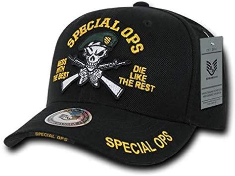 Rapid Dominance Green Beret Special Ops Deluxe Military Cap, Black - Miracle Mile Gifts