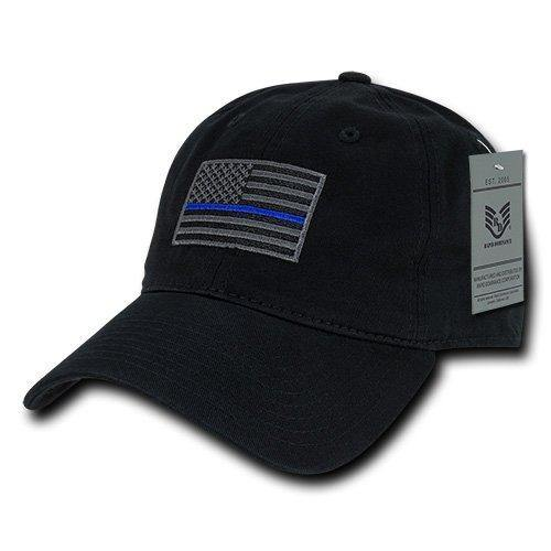 Rapiddominance A03-TBL-BLK Relaxed Graphic Cap, Thin Blue Line, Black - Miracle Mile Gifts