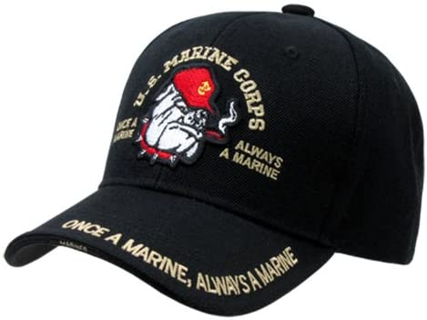 U.S. MARINES CORP BULLDOG HAT CAP SHADOW DESIGN U.S. MILITARY CAPS