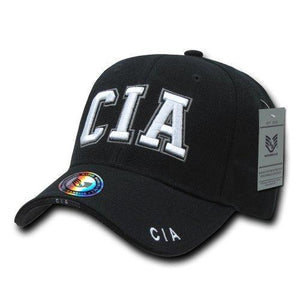 Rapid Dominance CIA Deluxe Law Enforcement Cap, Black - Miracle Mile Gifts