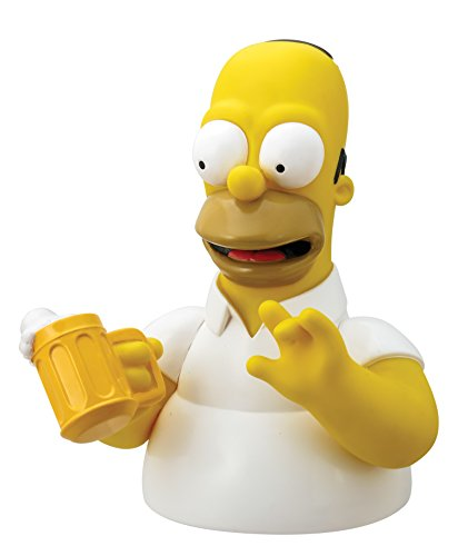 The Simpsons Homer with Mug Bust Bank Action Figure Multi-colored, 4