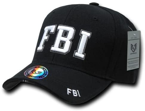 Rapid Dominance FBI Deluxe Law Enforcement Cap, Black - Miracle Mile Gifts