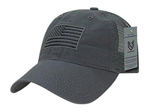 Rapid Dominance Relaxed Trucker USA Tonal Flag Cap, Dark Grey - Miracle Mile Gifts