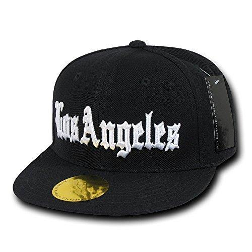 Nothing Nowhere Old English City Los Angeles Snapbacks, Black - Miracle Mile Gifts