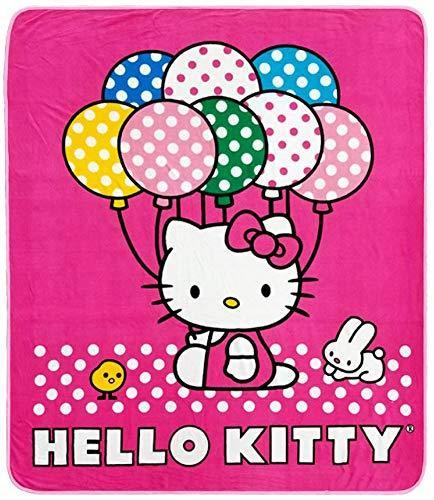 Hello Kitty Blanket - Hello Kitty Sanrio Throw (50 x 60 in) Baloon - Miracle Mile Gifts