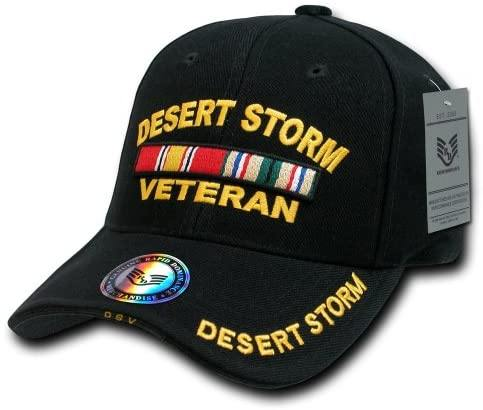 Rapid Dominance DeLuxe Military Cap, Desert Storm Veteran Black - Miracle Mile Gifts