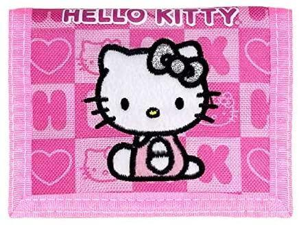 Hello Kitty Trifold Wallet - Pink Box Checker - Miracle Mile Gifts