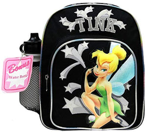 Disney Tinker Bell Mini Backpack  w/ Water Bottle Black 35344