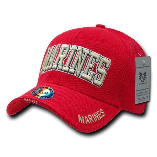Rapid Dominance Marines Text The Legend Military Cap, Red - Miracle Mile Gifts
