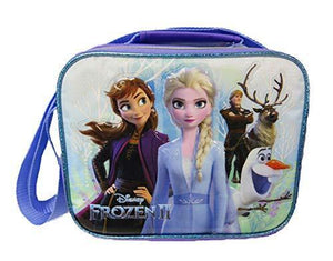 Disney Frozen- Insulated Lunch Bag with Adjustable Shoulder Straps - Magical Nature - A17305 - Miracle Mile Gifts