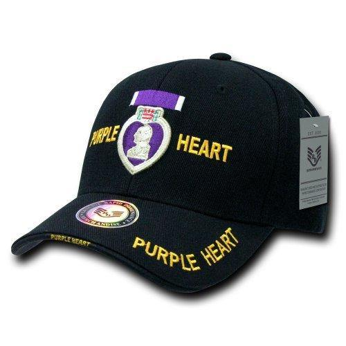 Rapid Dominance Purple Heart Cap, Black - Miracle Mile Gifts