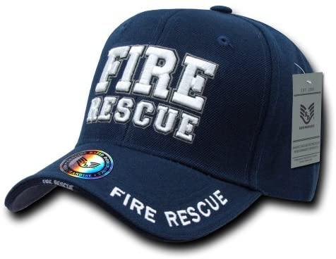 Rapid Dominance Fire Rescue Deluxe Law Enforcement Cap, Navy - Miracle Mile Gifts